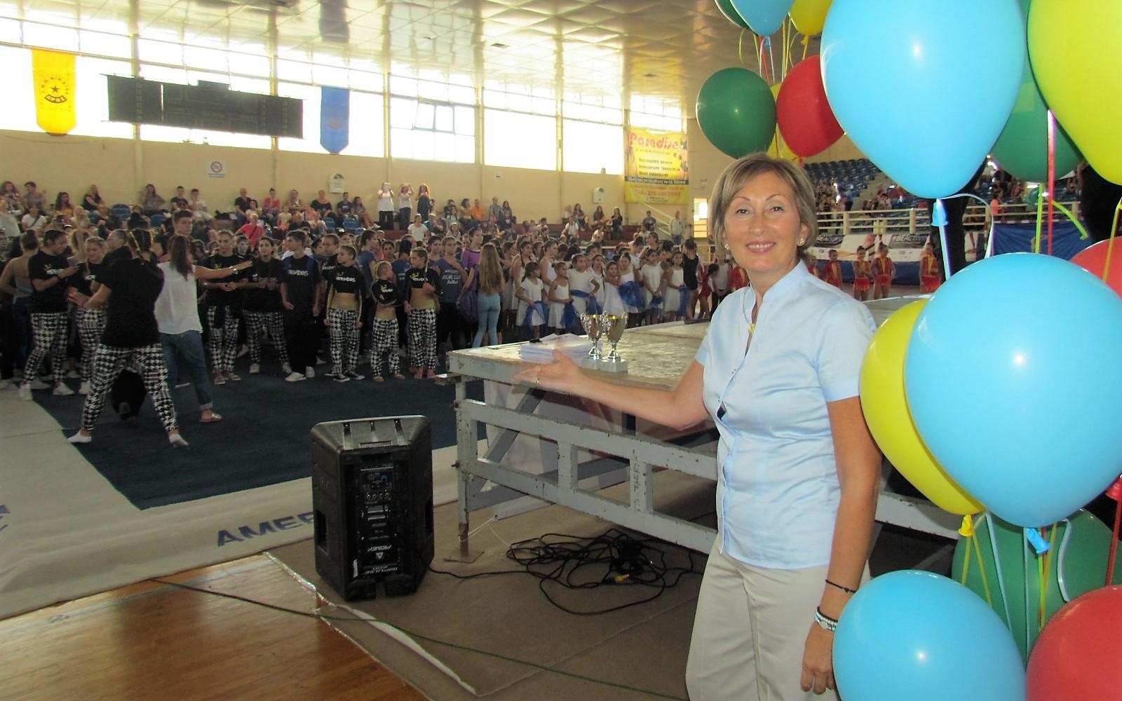 Η πρόεδρος της Τ.Ε. Γυμναστικής για Όλους της Ε.Γ.Ο., Μαρία Παπαδοπούλου